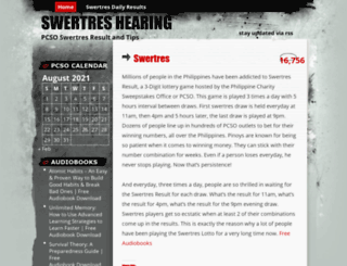 swertres.wordpress.co screenshot