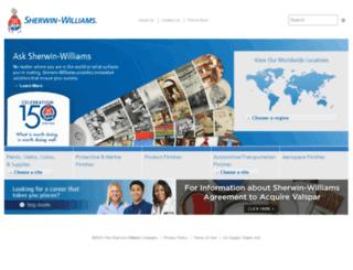 swgdev.sherwin.com screenshot