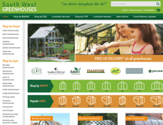 swgreenhouses.co.uk screenshot