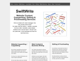 swiftediting.ie screenshot
