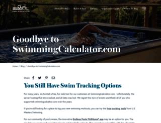 swimmingcalculator.com screenshot