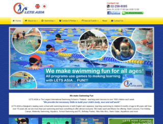 swimmingschoolbangkok.com screenshot