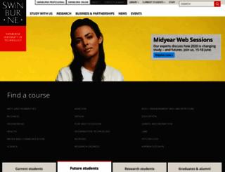 swin.edu.au screenshot