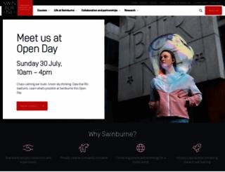 swinburne.edu.au screenshot