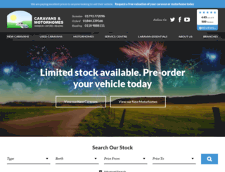 swindoncaravans.com screenshot