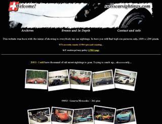 swisscarsightings.com screenshot