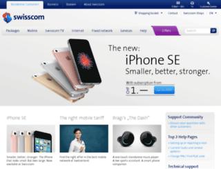 swisscom-mobile.ch screenshot