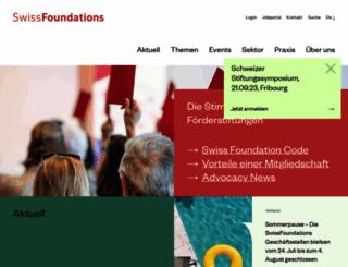 swissfoundations.ch screenshot