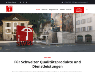 swisslabel.ch screenshot