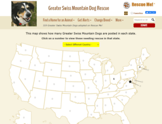 swissmountaindog.rescueme.org screenshot