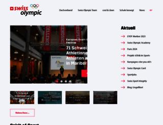 swissolympic.ch screenshot
