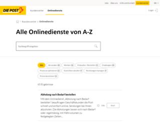 swisspostcard.de screenshot