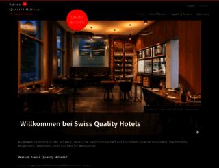 swissqualityhotels.com screenshot