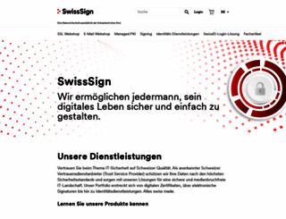 swisssign.com screenshot