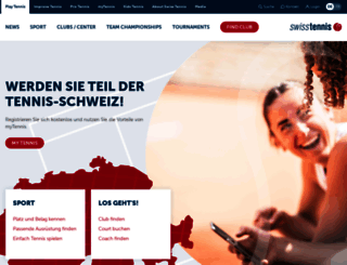 swisstennis.ch screenshot