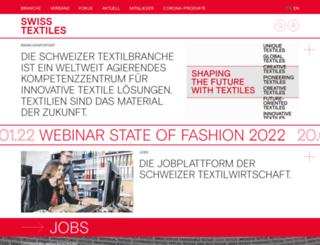 swisstextiles.ch screenshot