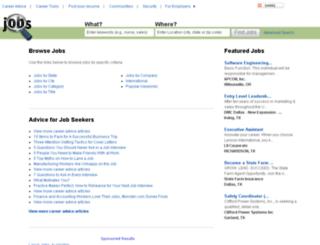 switzerland.jobs.com screenshot