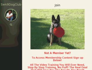 swk9dogclub.com screenshot