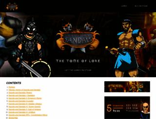 swordsandsandals.com screenshot
