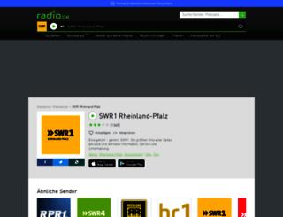 swr1rp.radio.de screenshot