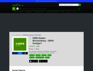 swr4bw.radio.net screenshot