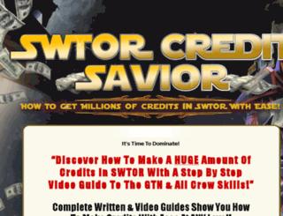 swtorcreditsavior.com screenshot