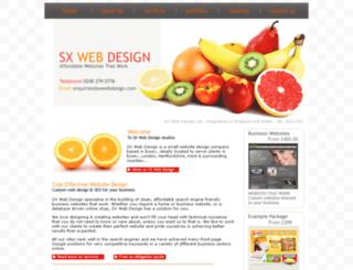 sxwebdesign.com screenshot
