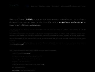 syans.fr screenshot