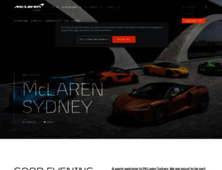 sydney.mclaren.com screenshot