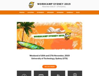 sydney.wordcamp.org screenshot