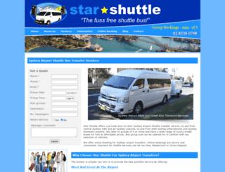 sydneyairportshuttle.com.au screenshot