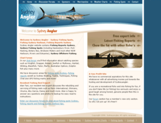 sydneyangler.com.au screenshot