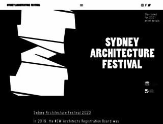 sydneyarchitecturefestival.org screenshot