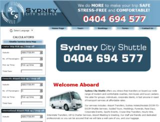 sydneycityshuttle.com.au screenshot