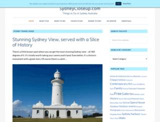 sydneycloseup.com screenshot