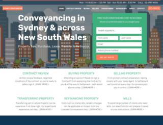 sydneyconveyancingservices.com.au screenshot