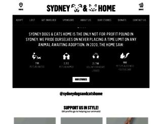 sydneydogsandcatshome.org screenshot