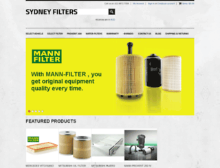 sydneyfilters.com.au screenshot