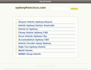 sydneyfrancisco.com screenshot