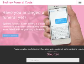 sydneyfuneralcosts.com.au screenshot