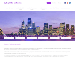 sydneyhotelconferences.com screenshot