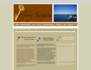 sydneyincognita.com.au screenshot