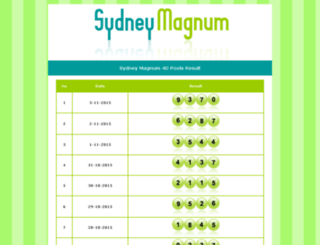 sydneymagnum.com screenshot