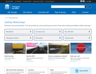 sydneymotorways.com screenshot