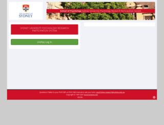 sydneypsych.sona-systems.com screenshot