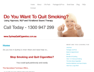 sydneyquitsmoking.com screenshot