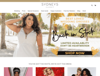sydneyscloset.com screenshot