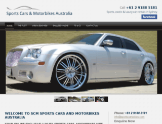 sydneysportscarhire.com.au screenshot