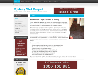 sydneywetcarpet.com.au screenshot