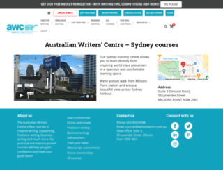 sydneywriterscentre.com.au screenshot